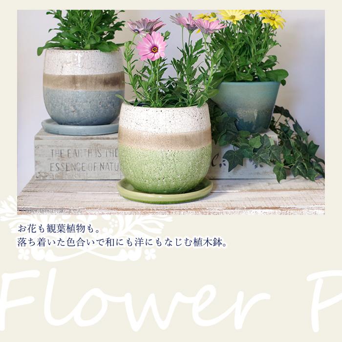 お花も観葉植物も。落ち着いた色合いで和にも用にもなじむ植木鉢。
